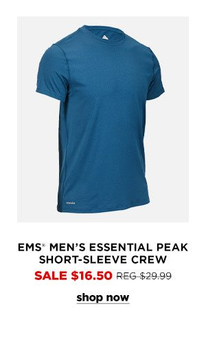 EMS Men's Essential Peak Short-Sleeve Crew - Click to Shop Now