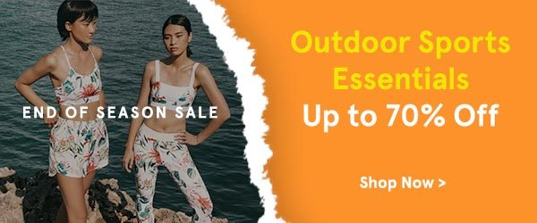 Outdoor Sports Essentials Up to 70% Off