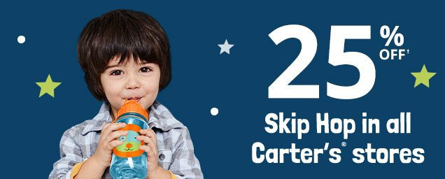 25% OFF† Skip Hop in all Carter's® stores