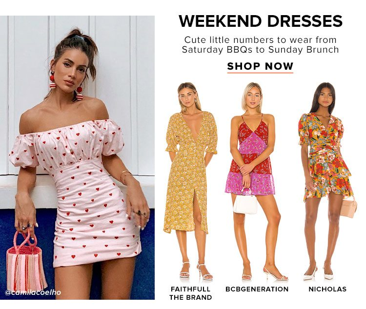 Weekend Dresses. Cute little numbers to wear from Saturday BBQs to Sunday Brunch. Shop Now.