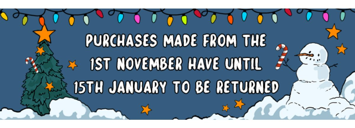 Extended Xmas Returns | Find out more