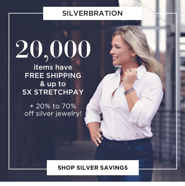 Silverbration: 20% to 70% silver jewelry styles