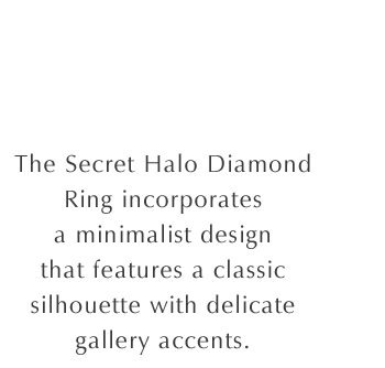 Secret Halo Diamond Ring