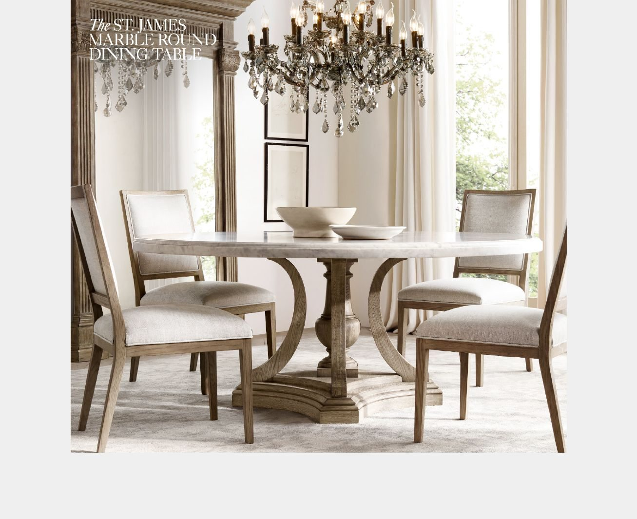 The Timeless Dining Room Featuring The St James Collection Rh Email Archive