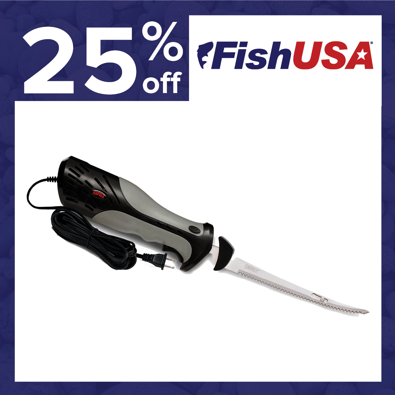 25% off the Rapala Heavy-Duty Electric Fillet Knife