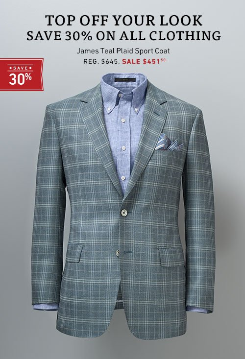 Save 30% on all clothing
