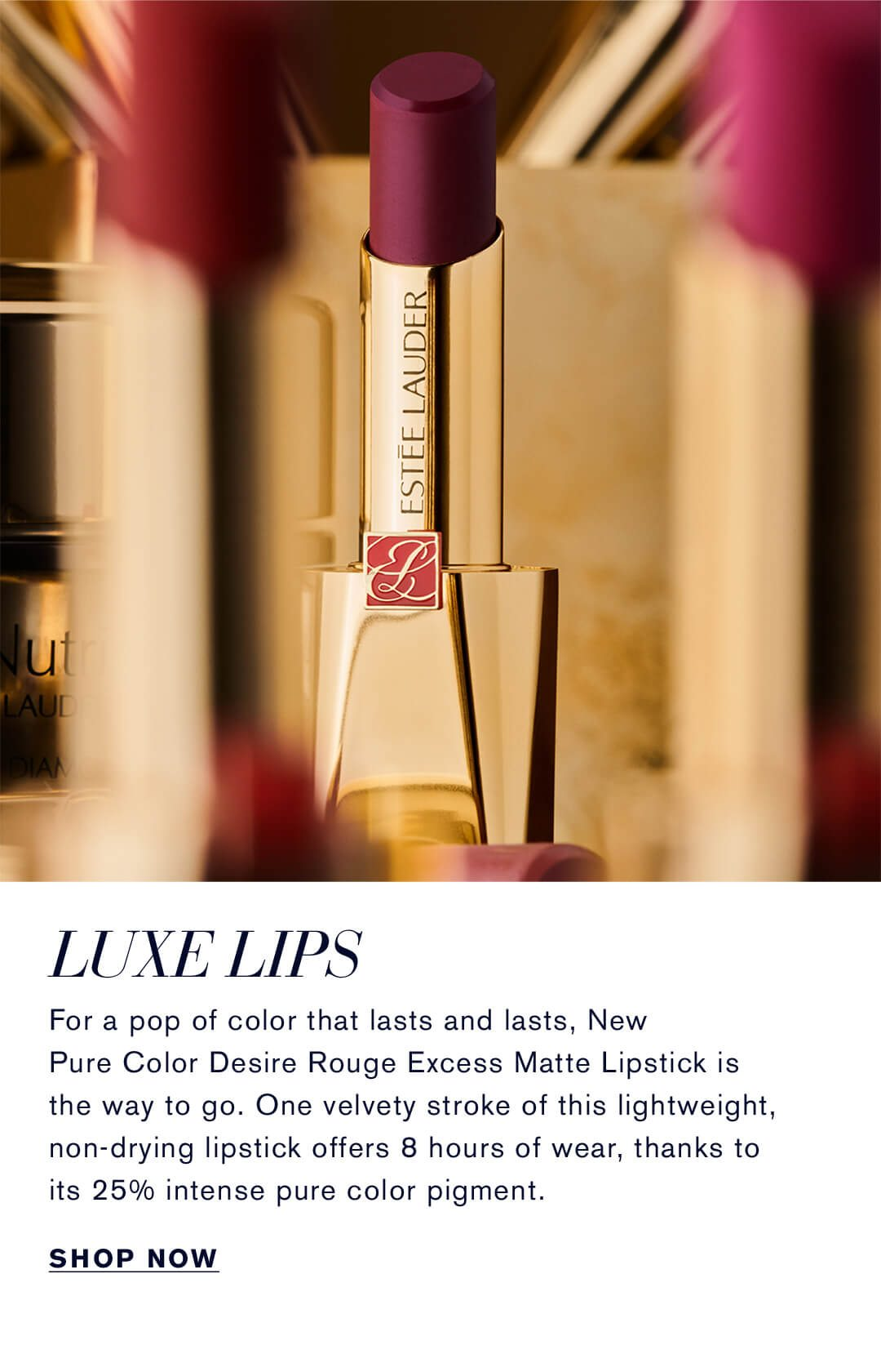 Luxe Lips | Pure Color Desire Rouge Excess Matte Lipstick