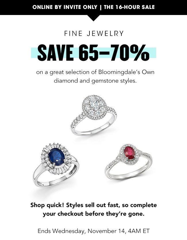 Save 65-70% on fine jewelry - Bloomingdale's Email Archive