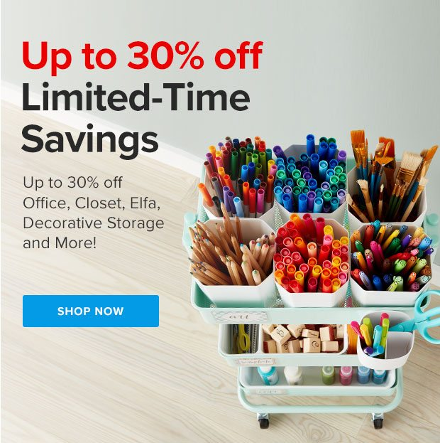 Up to 30% off Limited-Time Savings ›
