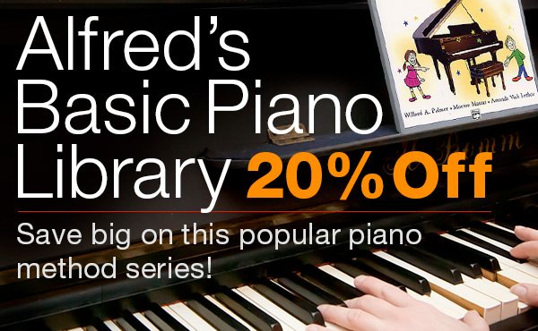 20% off Alfred's Basic Piano Library