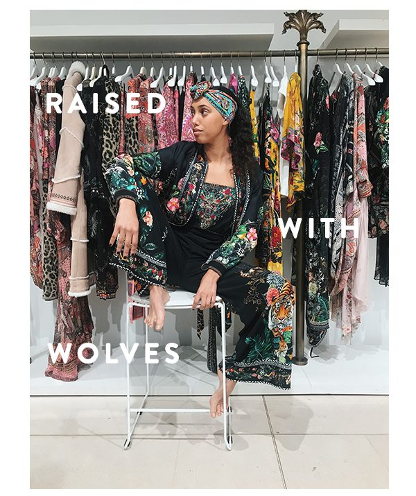 Raised With Wolves | Strapless Jumpsuit Layered With Matching Kimono
