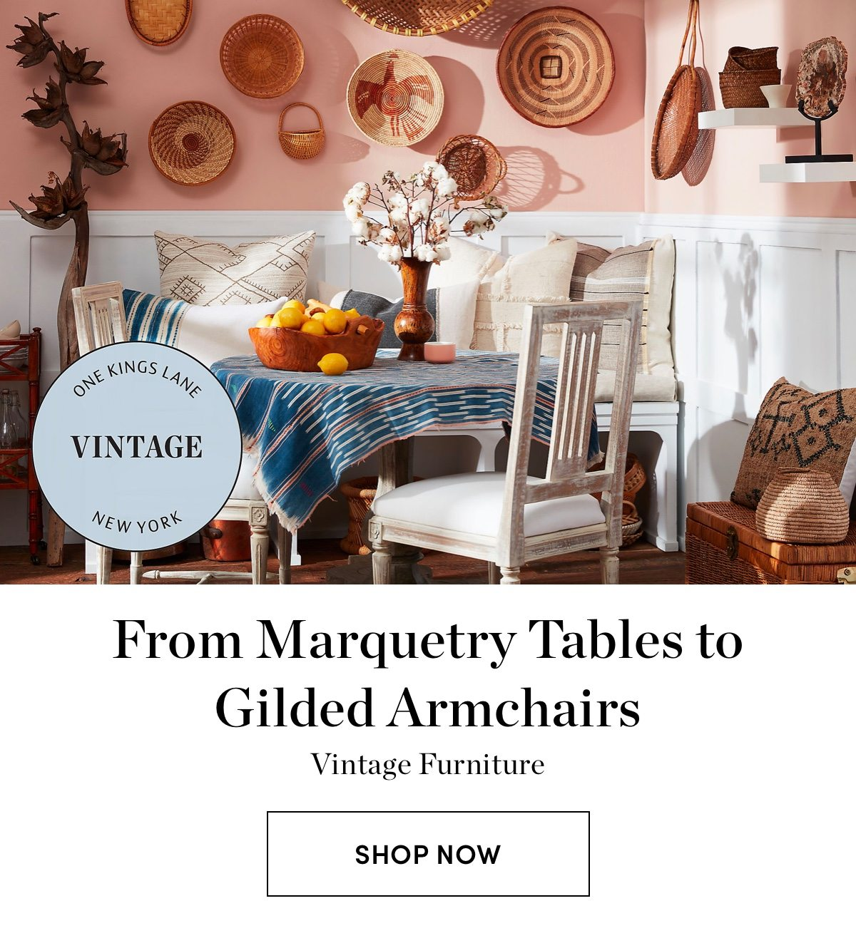 From Marquetry Tables to Gilded Armchairs