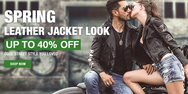 Spring leather jacket look UP TO 40% OFF Shop now>