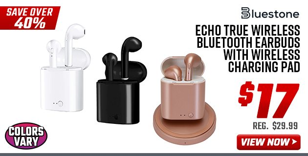 Bluestone Echo True Wireless Bluetooth Earbuds with Wireless Charging Pad