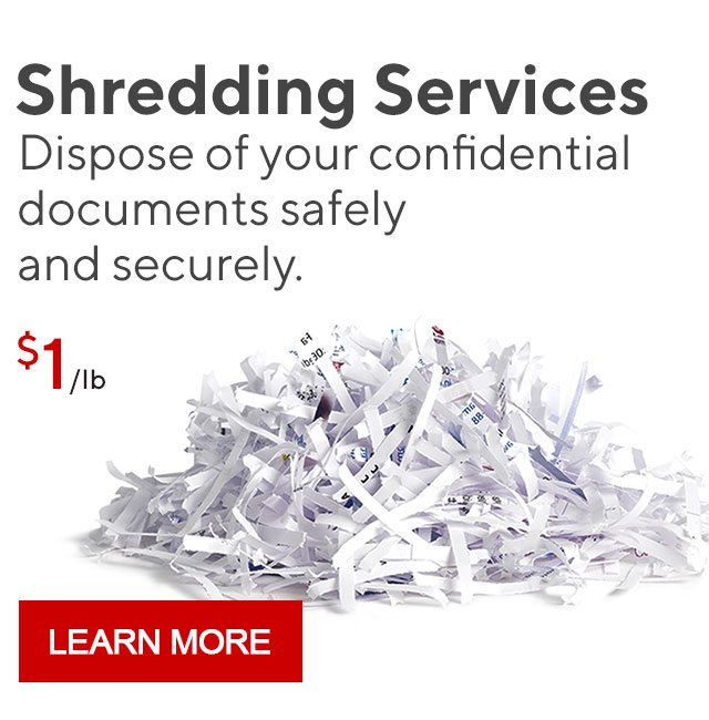 Shredding Services | Dispose of your confidential documents safely and securely. LEARN MORE