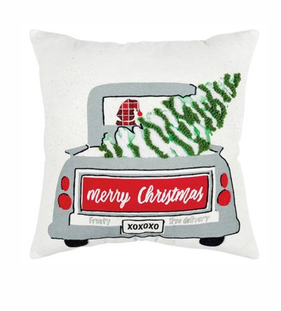 Christmas Frosty Tree Delivery Filled Pillow | SHOP NOW