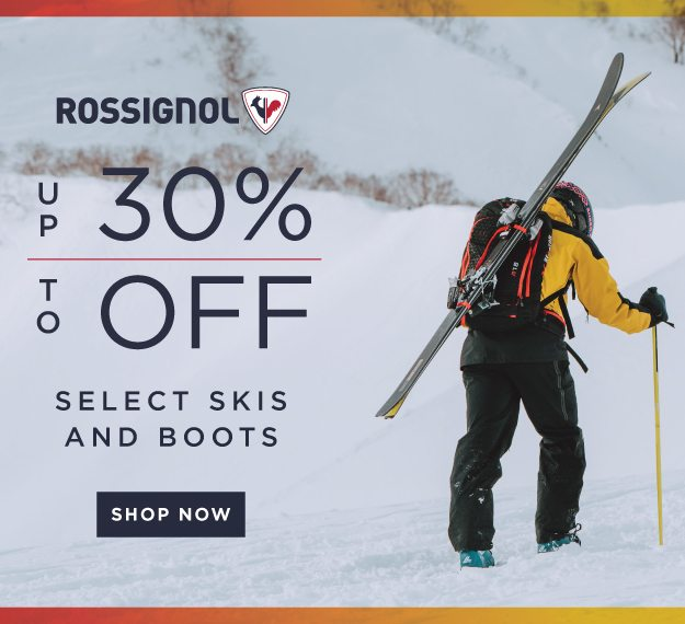 UP TO 30% OFF SELECT SKIS AND BOOTS