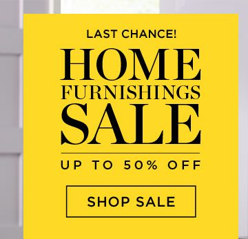 Home Furnishings Sale - Up To 50% Off - Shop Sale