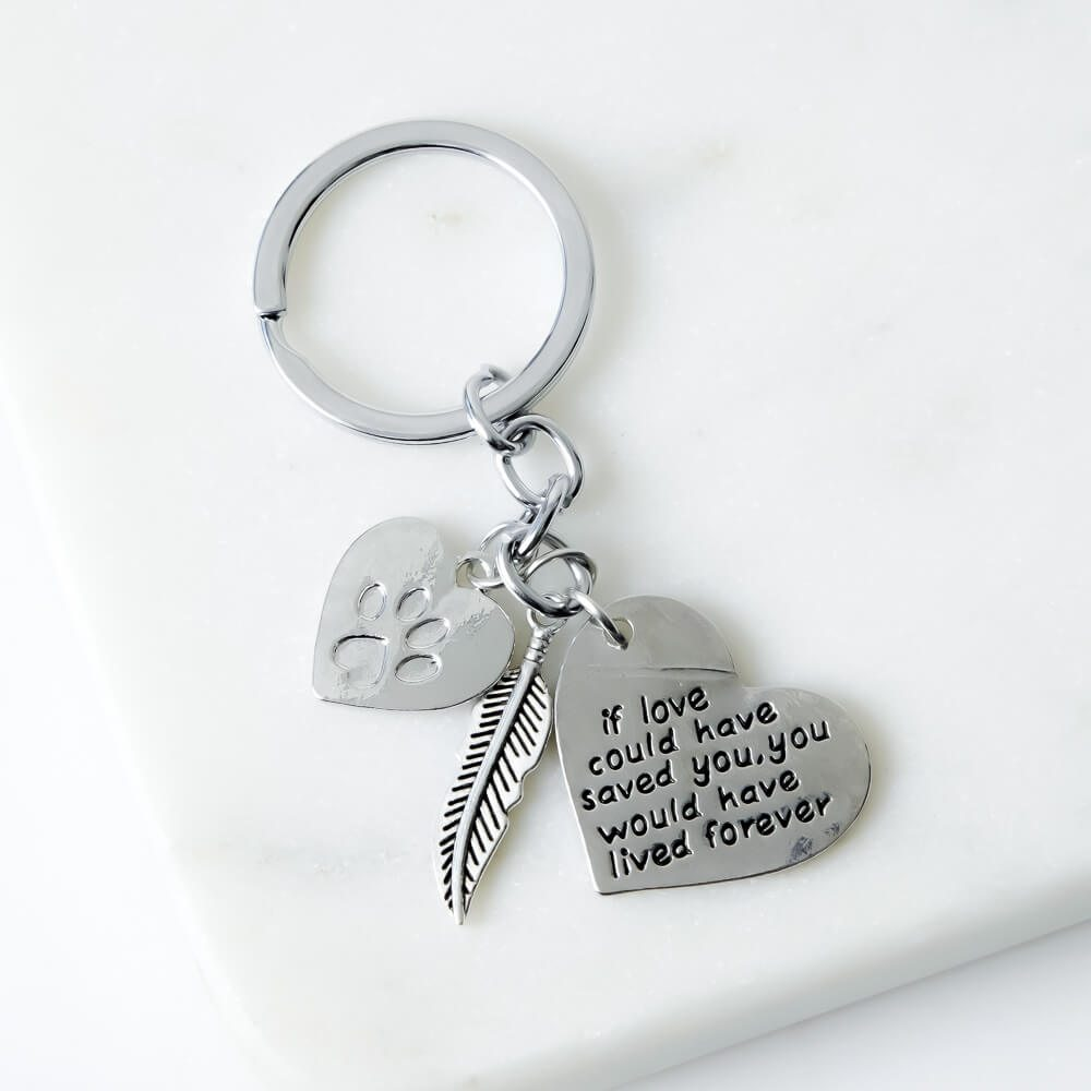 Image of Love Furever™ Memorial Charm Keychain