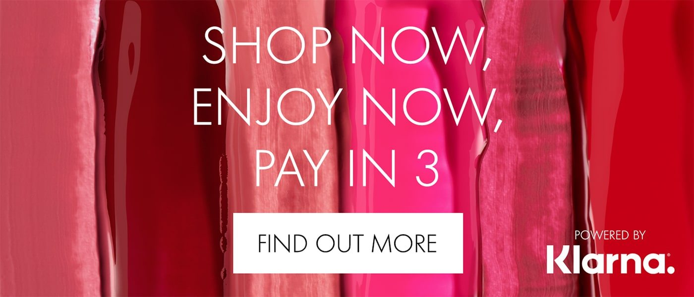 Klarna shop now, enjoy now, pay in 3 FIND OUT MORE