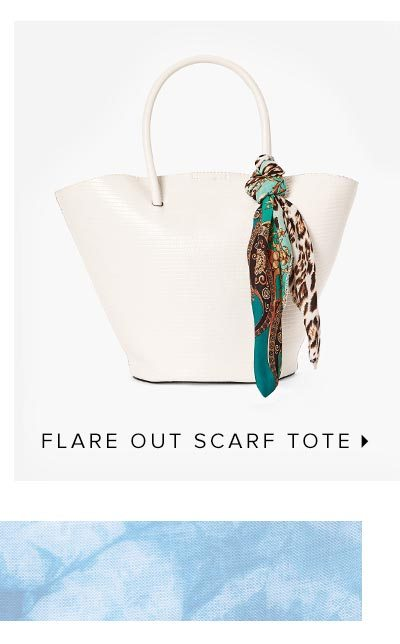 FLARE OUT SCARF TOTE