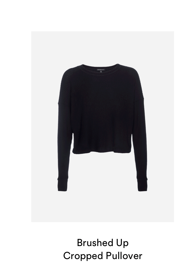 Waffle Knit Cropped Pullover