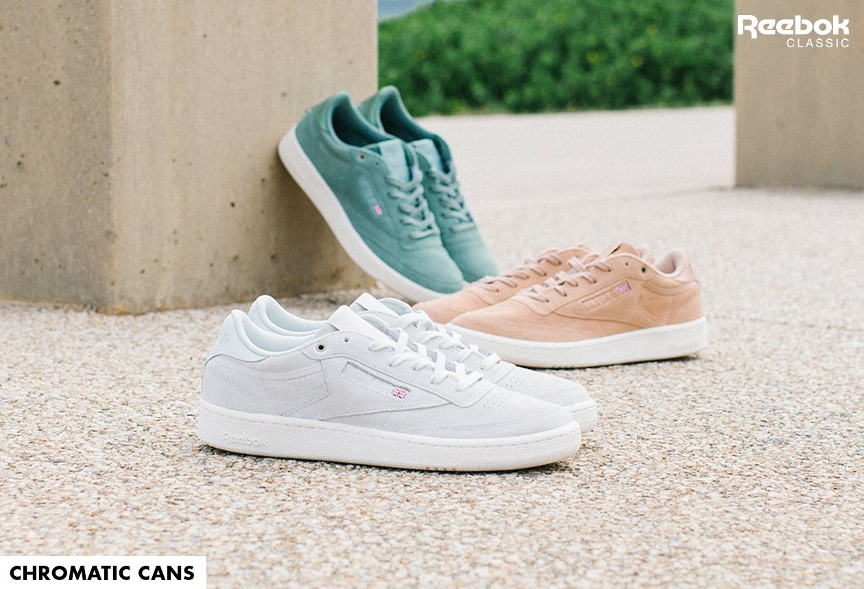 dc8812754ff Reebok shakes it up with spray paint specialists Montana Cans for a trio of  colour-coded Club C 85. Suede and rubber is the primer for pigment - each  ...