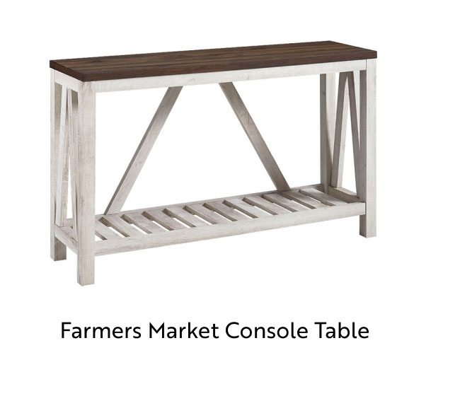Farmers Market Console Table