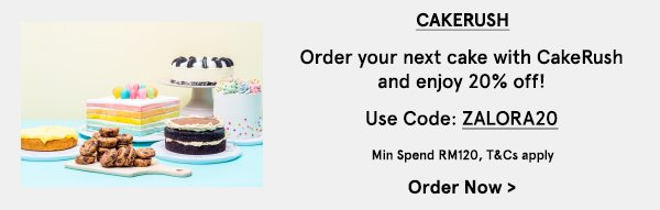 Order your next cake with CakeRush and enjoy 20% Off!