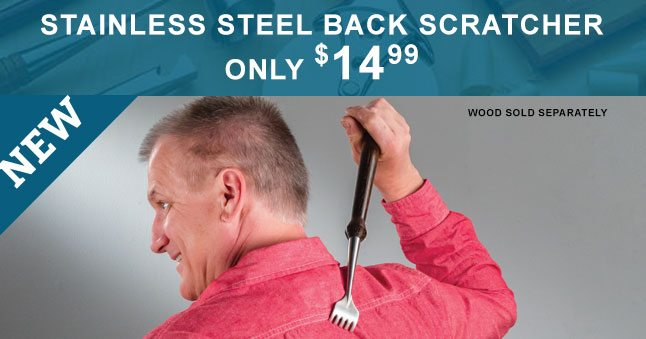 NEW! Stainless Steel Back Scratcher