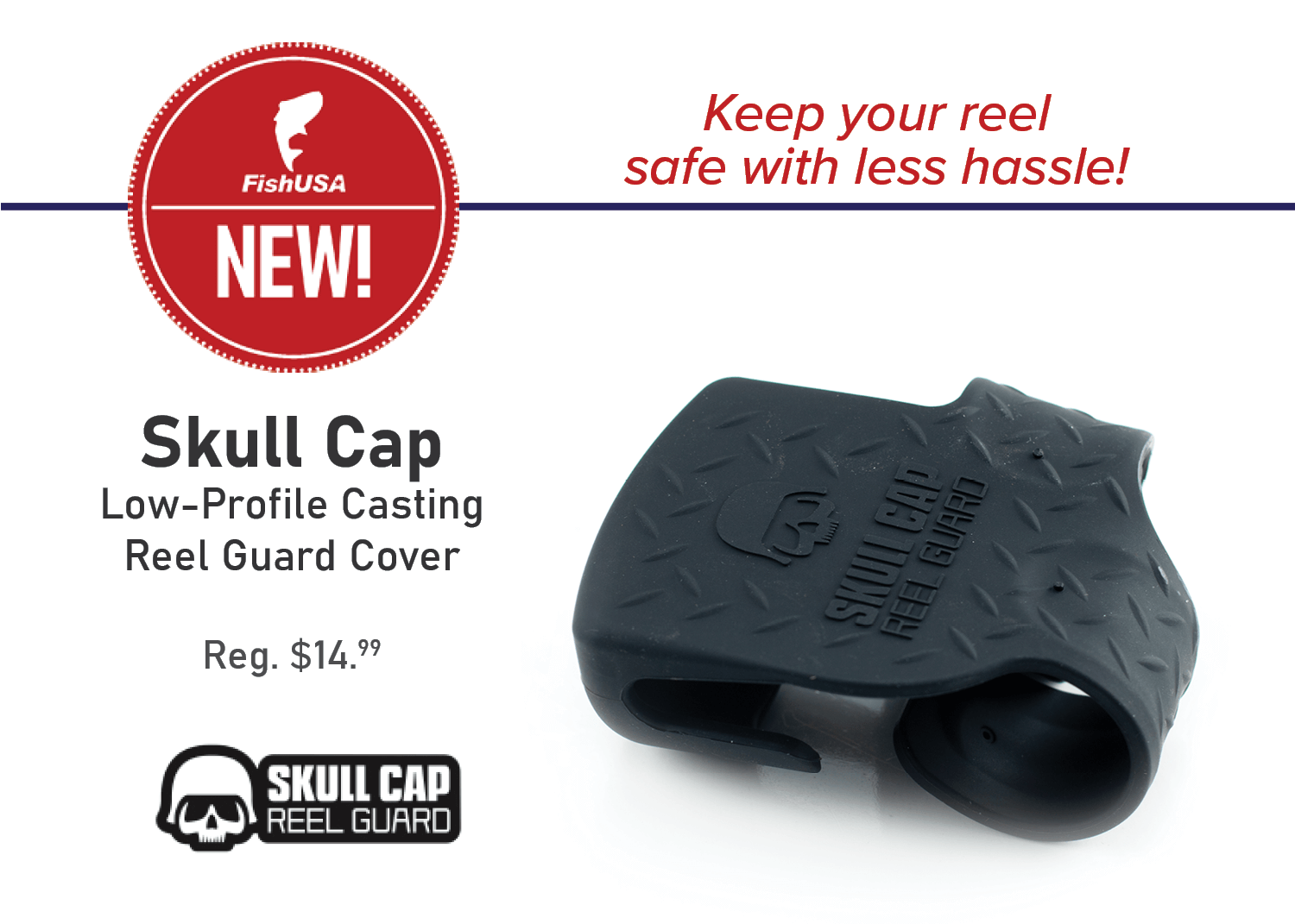 Skull Cap Low-Profile Casting Reel Guard Cover