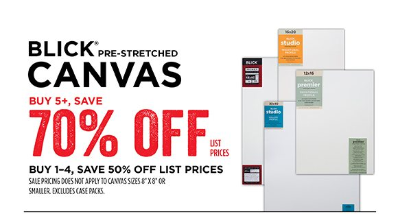 Blick Pre-Stretched Canvas - Buy 5+, Save 70% off list prices - Buy 1-4, save 50% off list prices