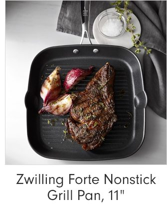 """Zwilling Forte Nonstick Grill Pan, 11"""""""