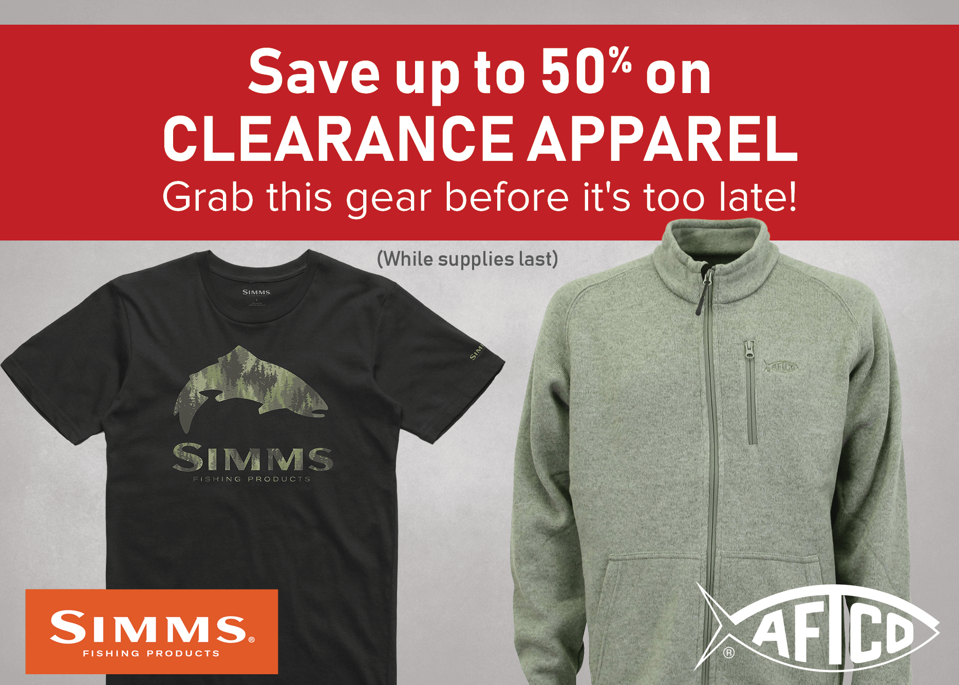 Save up to 50 on Clearance Apparel
