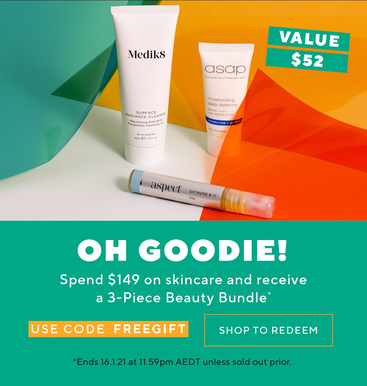 Spend $149 on skincare and receive a 3-Piece Beauty Bundle^