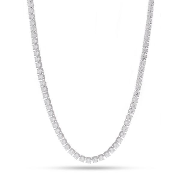 4mm White Gold Single Row Tennis Chain
