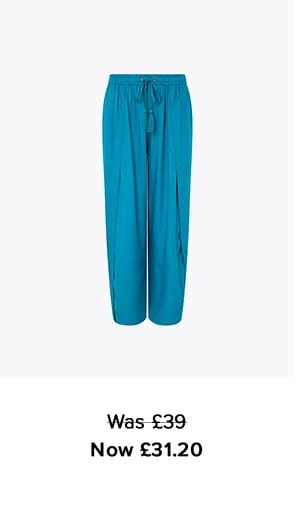INDIANA WIDE LEG CULOTTE TROUSERS IN LENZING™ ECOVERO™