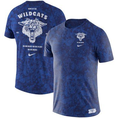 Kentucky Wildcats Nike Basketball Statement Tri-Blend T-Shirt - Royal