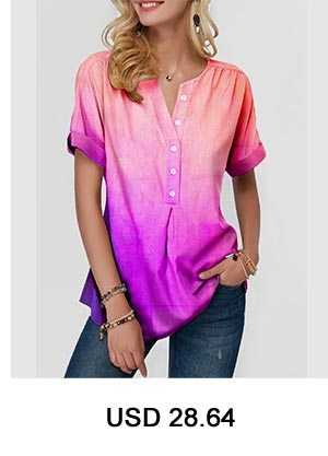 Flower Print Asymmetric Hem Round Neck Blouse