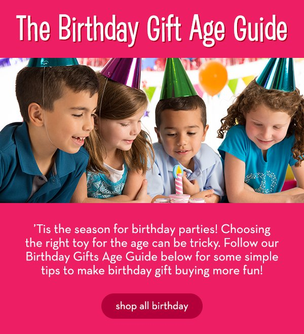 The Birthday Gift Age Guide
