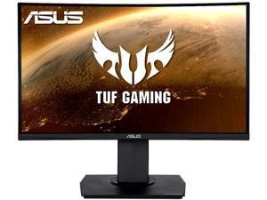 """ASUS TUF Gaming VG24VQ 24"""" FHD 1920 x 1080 1ms MPRT 144Hz DisplayPort AMD FreeSync LED Height Adjustable Curved Gaming Monitor"""