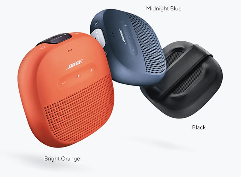 Bose® SoundLink® Micro Bluetooth® Speakers - Black, Midnight Blue, orange vif