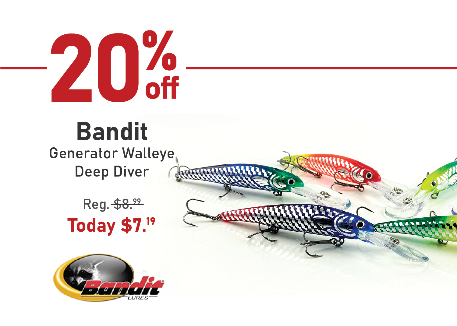 Save 20% on the Bandit Generator Walleye Deep Diver