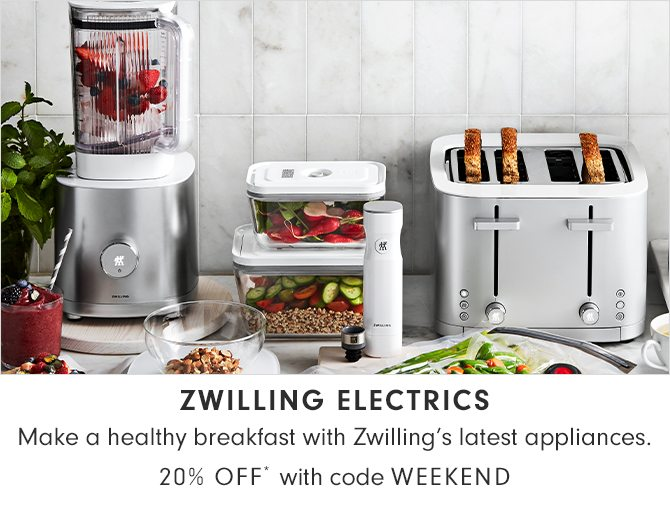 ZWILLING ELECTRICS - 20% OFF* with code WEEKEND