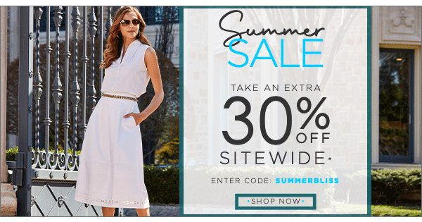 Summer Sale - Extra 30% OFF