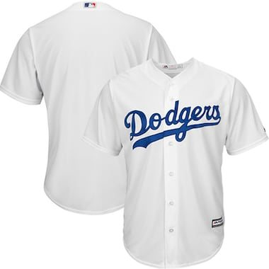 Majestic Los Angeles Dodgers White Official Cool Base Jersey