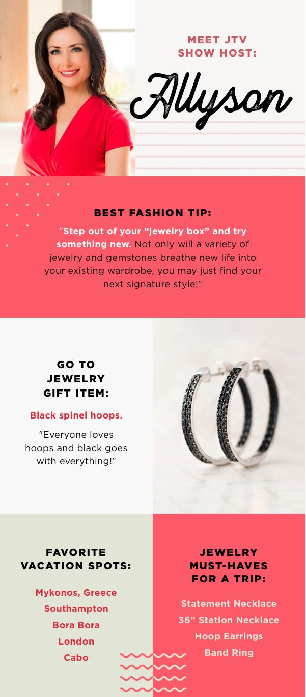 Black spinel jewelry goes with everything!