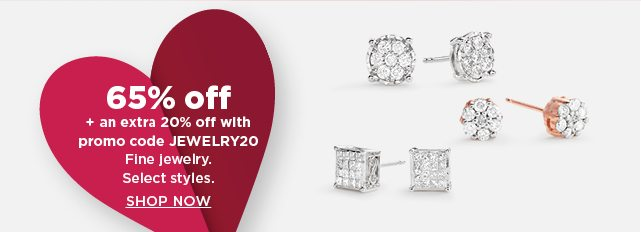 65% off plus an extra 20% off with promo code JEWELRY20 fine jewelry. shop now.