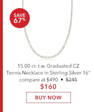 Graduated CZ Tennis Bracelet. Buy Now