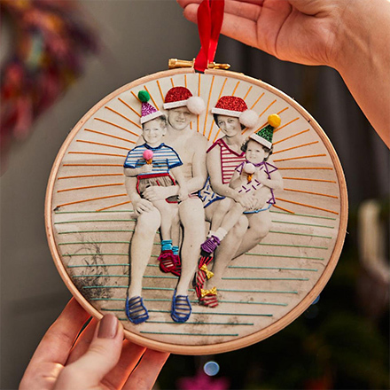 Personalised Photo Embroidered Decoration
